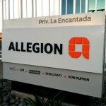 Allegion Monument Sign