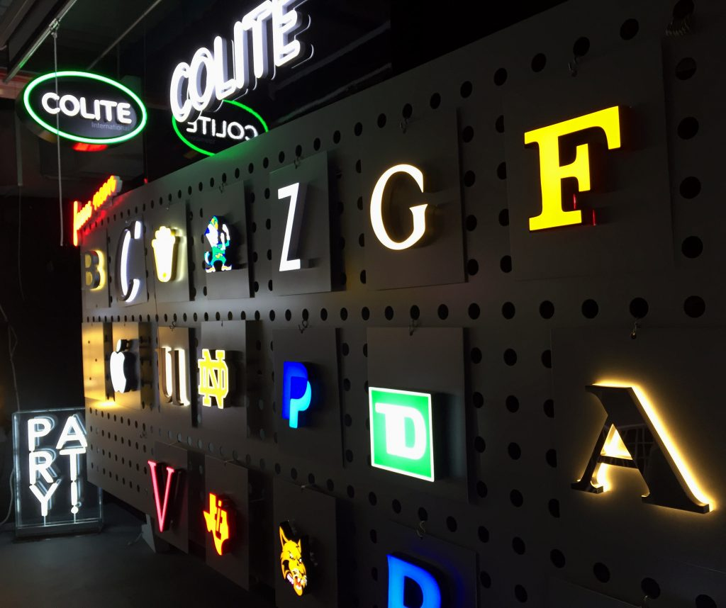 Our Signature LED room is where we showcase and evaluate our different letter sets, illumination options and more.